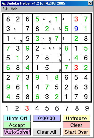 mzrg sudoku solver project